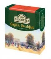 Чай черный Ahmad English Breakfast (Ахмад Английский завтрак), пакетики с ярлычками, 100 саше по 2г.