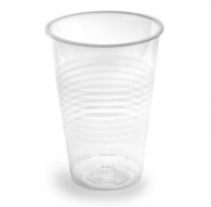 Стакан одноразовый, прозрачный пластик, 200мл, 100шт в упаковке